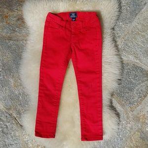 GAP Kid's red skinny fit jeans